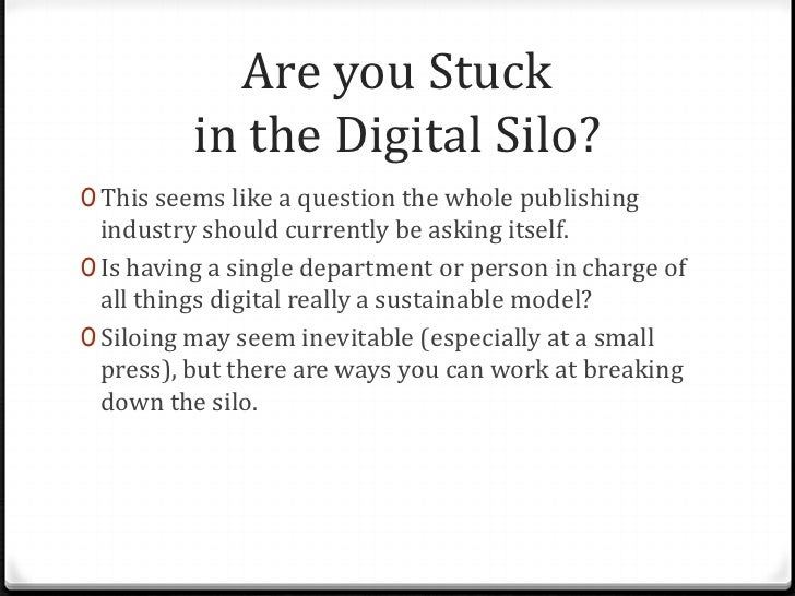 """Laura Leichum: """"Lessons from Inside the Digital Silo,"""" for the """"E-book Nuts and Bolts"""" panel at AAUP 2012"""