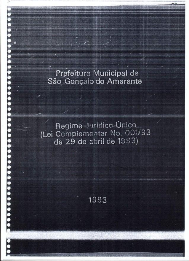 Lei complementar 001 de São Gonçalo do Amarante - Ceará
