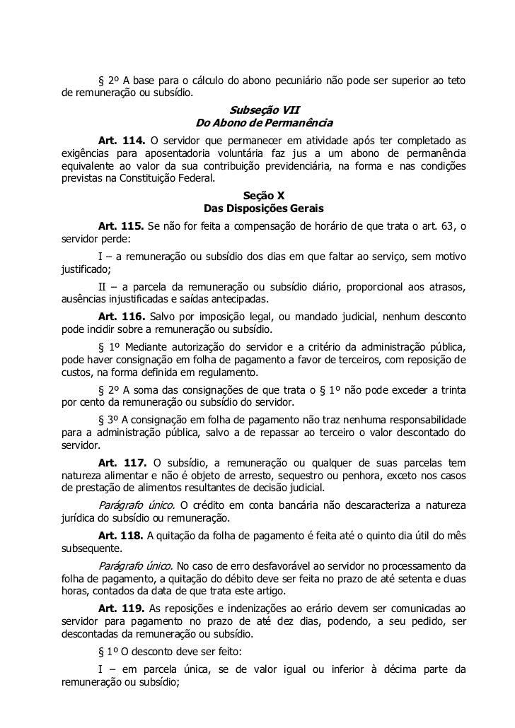 § 2º A base para o cálculo do abono pecuniário não pode ser superior ao tetode remuneração ou subsídio.                   ...