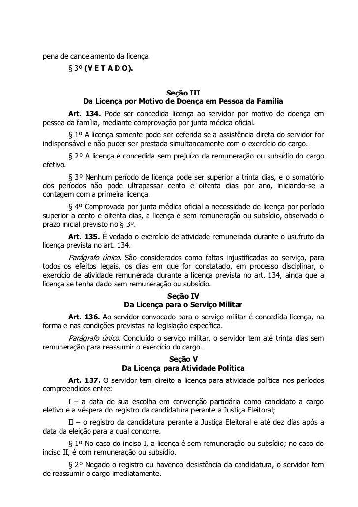 pena de cancelamento da licença.           § 3º (V E T A D O).                                     Seção III              ...