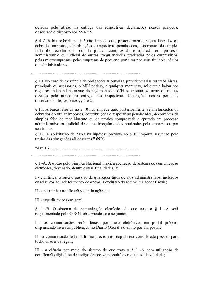 Lei complementar n 139 super simples Slide 2