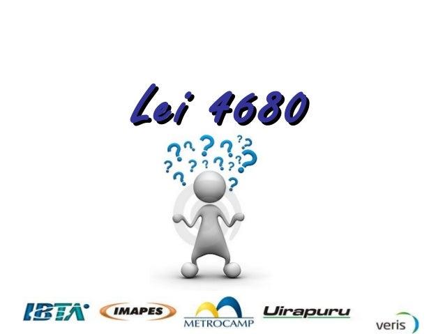 Lei 4680Lei 4680