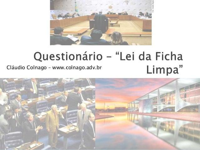 Cláudio Colnago – www.colnago.adv.br