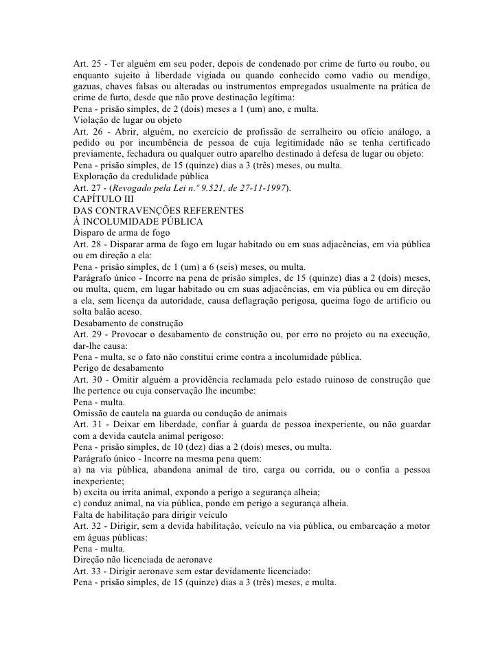 Artigo 42 da lei das contravencoes penais