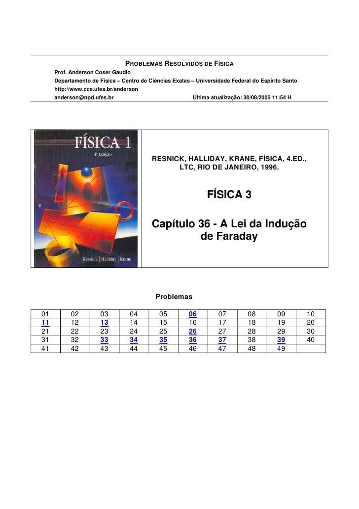 PROBLEMAS RESOLVIDOS DE FÍSICA      Prof. Anderson Coser Gaudio      Departamento de Física – Centro de Ciências Exatas – ...