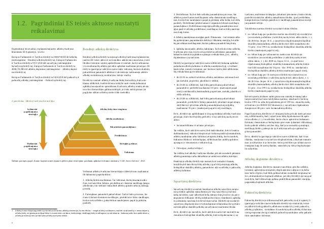 8 9 Pagrindiniai teisės aktai, reglamentuojantys atliekų tvarkymo klausimus ES lygmenyje, yra šie: Europos Parlamento ir T...