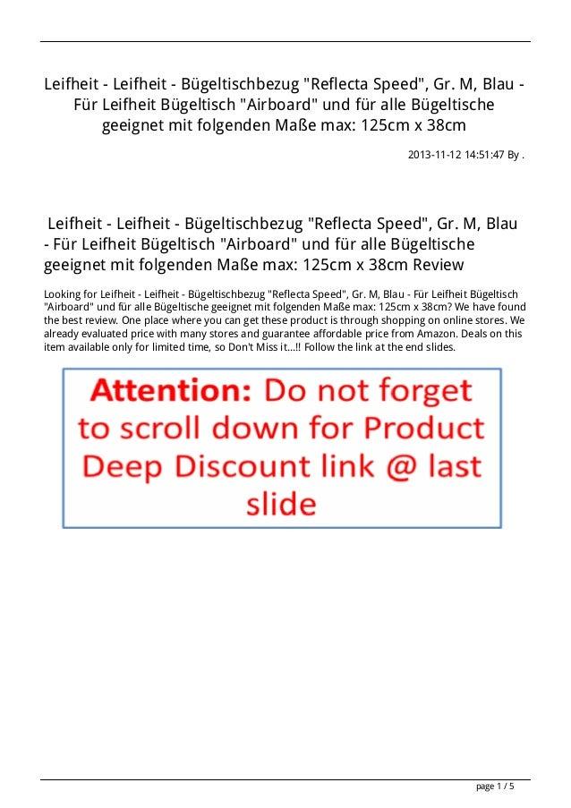 """Leifheit - Leifheit - Bügeltischbezug """"Reflecta Speed"""", Gr. M, Blau Für Leifheit Bügeltisch """"Airboard"""" und für alle Bügelt..."""