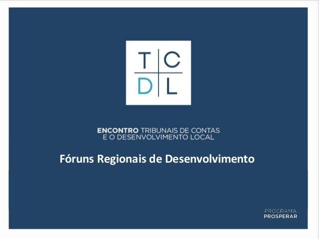 Fóruns Regionais de Desenvolvimento