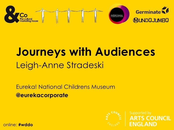 Journeys with Audiences     Leigh-Anne Stradeski     Eureka! National Childrens Museum     @eurekacorporateonline: #wddo