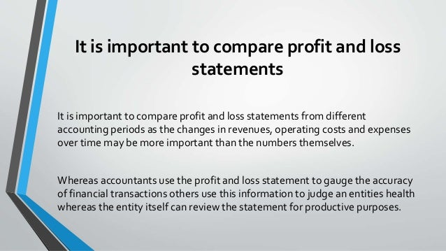What Is A Profit And Loss Statement