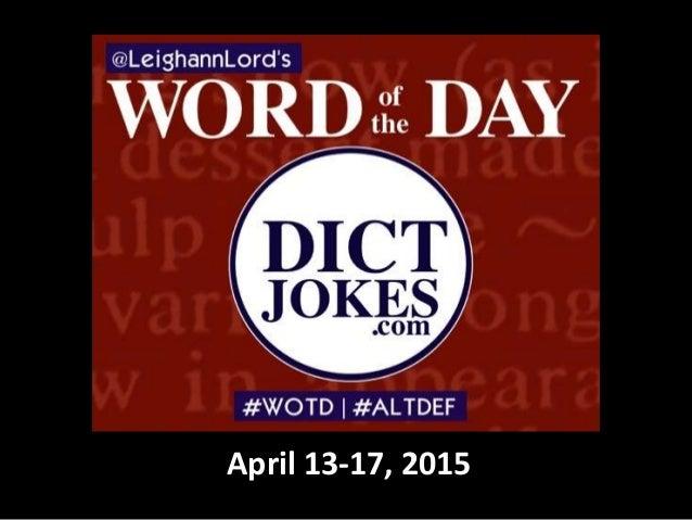 April 13-17, 2015