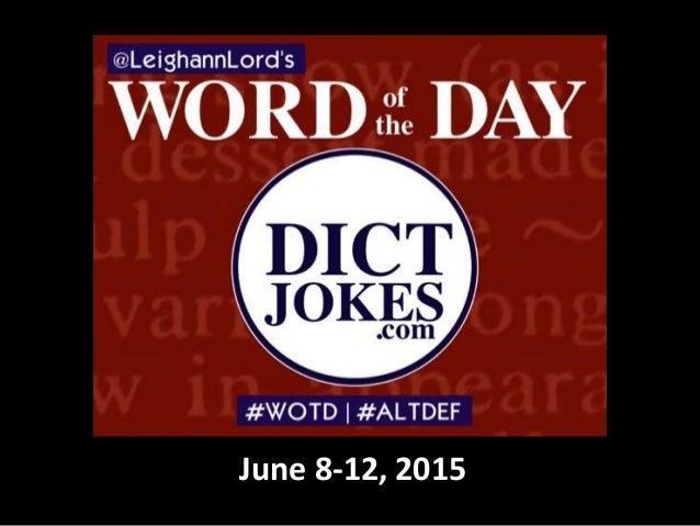 June 8-12, 2015