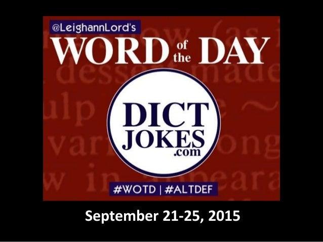 September 21-25, 2015