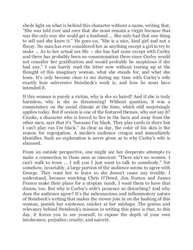 of mice and men 26 essay Of mice and men - theme of loneliness essays: over 180,000 of mice and men - theme of loneliness essays, of mice and men - theme of loneliness term papers, of mice and men - theme of loneliness research paper, book reports 184 990 essays, term and research papers available for unlimited access.