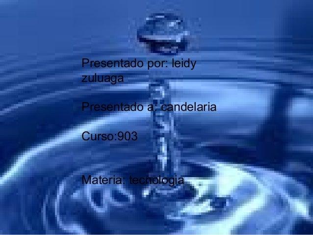 Presentado por: leidy zuluaga Presentado a: candelaria Curso:903 Materia:tecnologia Presentado por: leidy zuluaga Presenta...