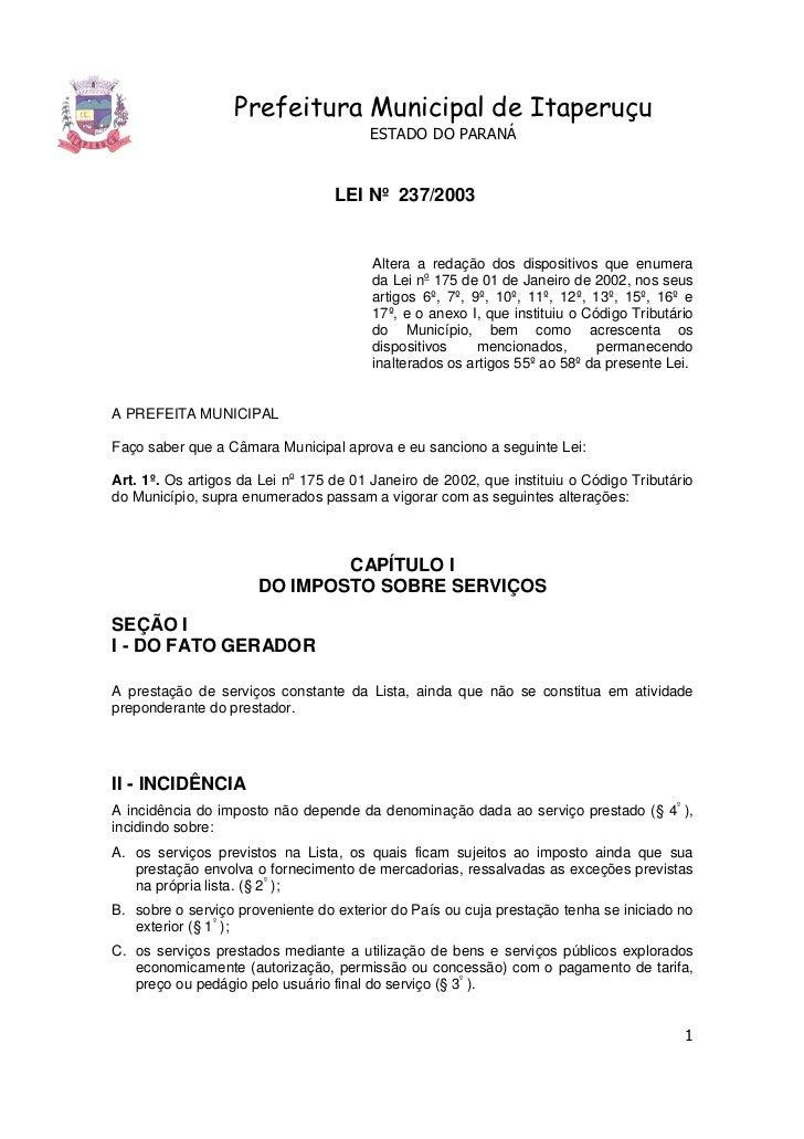 Prefeitura Municipal de Itaperuçu                                       ESTADO DO PARANÁ                                  ...