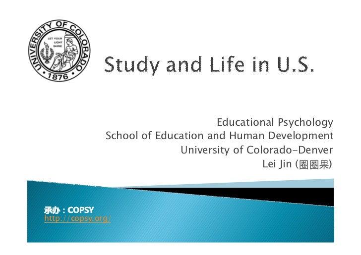 Educational Psychology               School of Education and Human Development                             University of C...