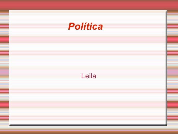 Política Leila