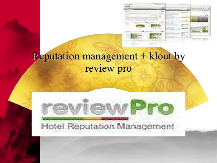 Reputation management + klout by review pro