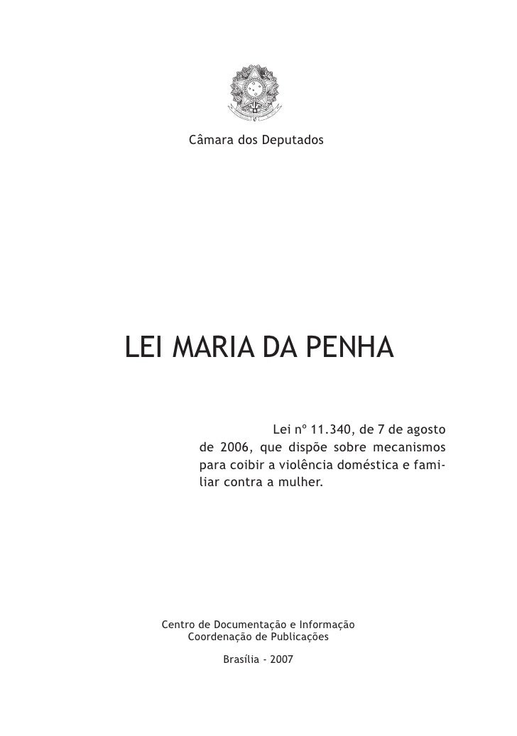 Lei maria da penha monografia