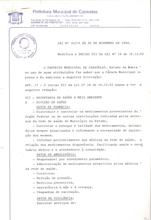 ---Prefeitura Municipal de CaravelasC.G.C. (M.F.) 13.761.689/0001-19Rua Barão do Rio Branco, 65 - Tais.: (073) 297-1113 - ...