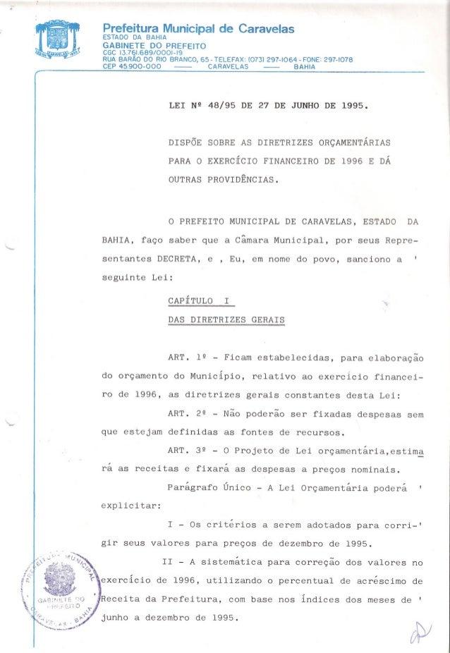 Prefeitura Municipal de CaravelasESTADO DA BAHIA GABINETE DO PREFEITO CGC 13.761.689/0001-19 RUA BARÃO DO RIO BRANCO, 65- ...