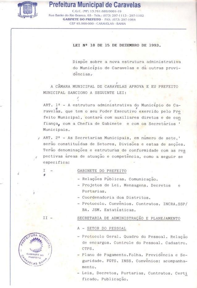Prefeitura Municipal de Caravelasc.a.c. (MF) 13.761.689/0001-19Rua Barão do Rio Branco, 65 - Tels.: (073) 297-1113 - 297-1...