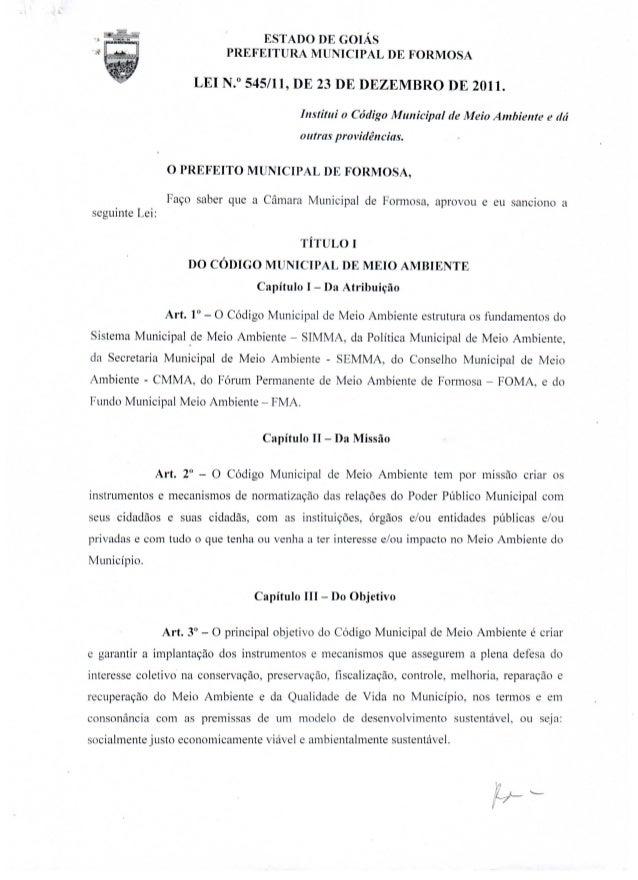 ESTADO DE GOIÁS                                   PREFEITURA MUNICIPAL                        DE FORMOSA                  ...