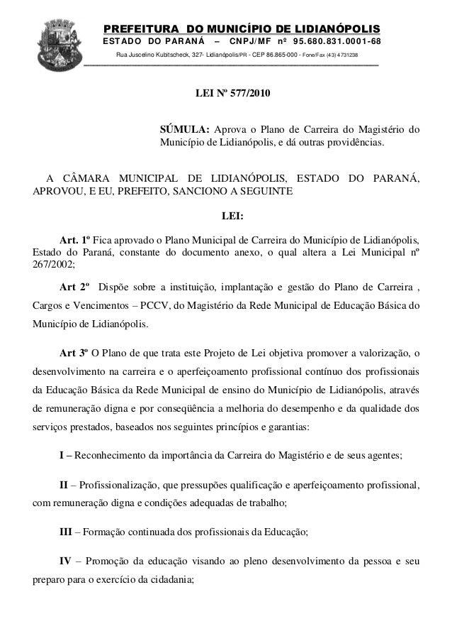 PREFEITURA DO MUNICÍPIO DE LIDIANÓPOLIS                 ESTADO DO PAR AN Á                    –     CNPJ/ MF nº 95.680.831...