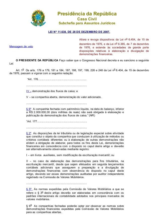 20/05/2015 Leinº11.638 http://www.planalto.gov.br/ccivil_03/_ato20072010/2007/lei/l11638.htm 1/6 PresidênciadaRepúbli...