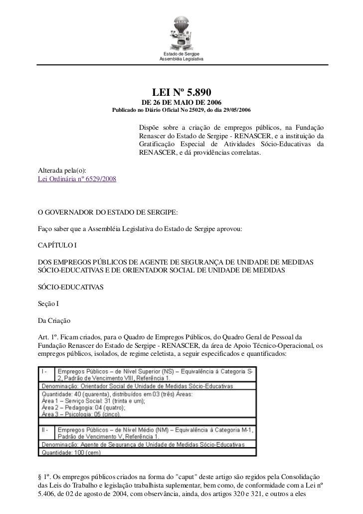 Estado de Sergipe                                           Assembléia Legislativa                                        ...