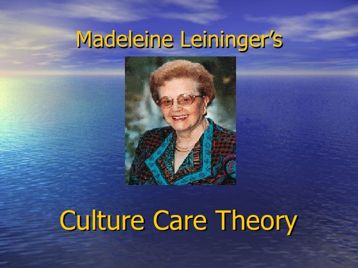 Madeleine Leininger's Culture Care Theory