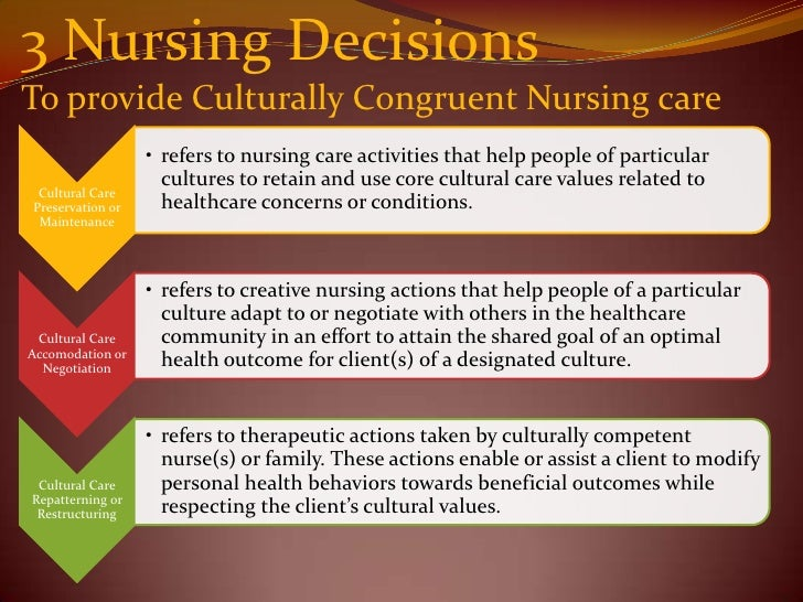 cultural diversity in nursing There is a decided need to create a more diverse nursing workforce to reflect this  demographic and provide culturally competent care.