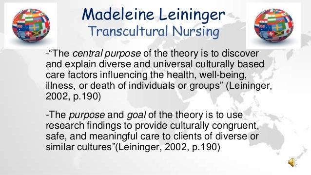 leininger transcultural nursing