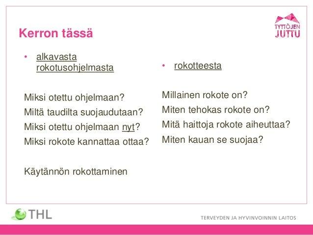 Leino: Mitä pitää tietää HPV-rokotuksista?