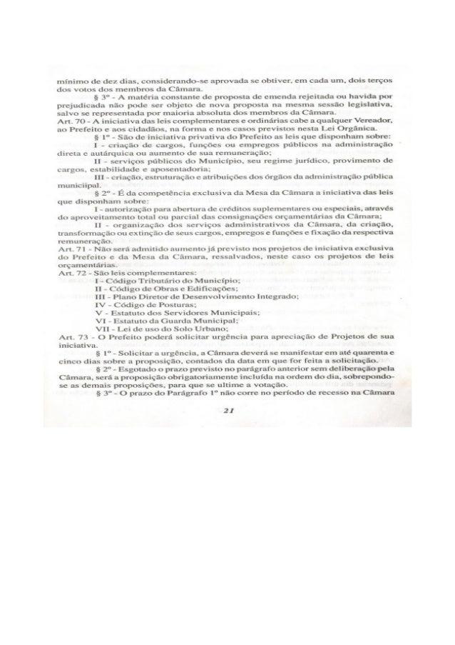 Lei orgânica do município de arraial
