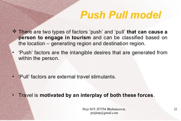 what is the push and pull theory