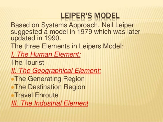 the tourism system model We estimate a vector error correction model of the supply  specification of our hawaii tourism model (htm) adopt the system  hawaii tourism model.