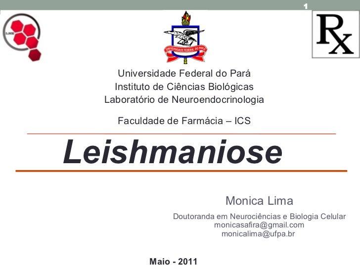 Monica Lima Doutoranda em Neurociências e Biologia Celular [email_address] monicalima@ufpa.br  Maio - 2011 Universidade Fe...