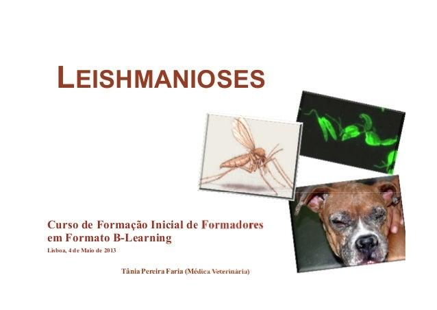 LEISHMANIOSESCurso de Formação Inicial de Formadoresem Formato B-LearningLisboa, 4 de Maio de 2013Tânia Pereira Faria (Méd...