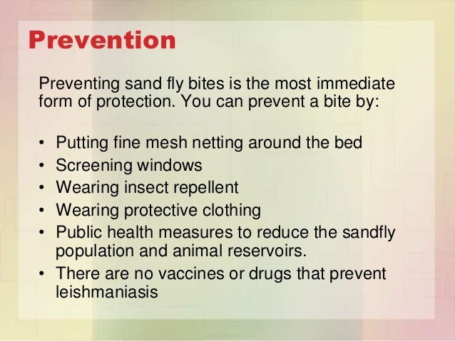 how to prevent sand fly bites