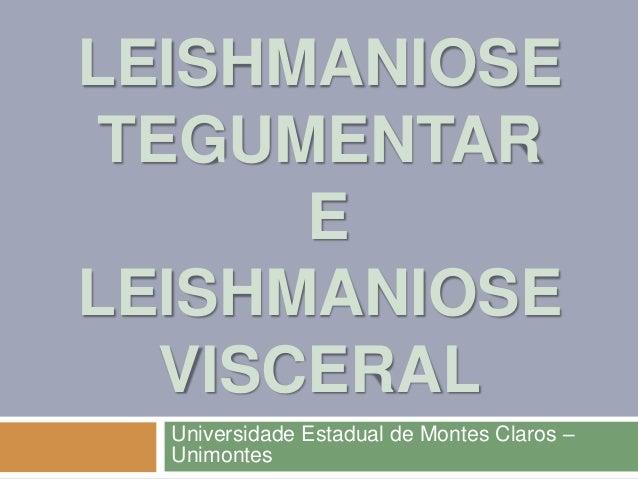 LEISHMANIOSE TEGUMENTAR E LEISHMANIOSE VISCERAL Universidade Estadual de Montes Claros – Unimontes