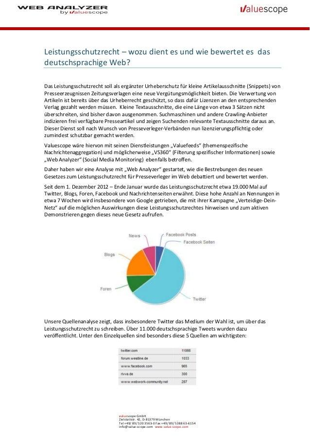 Leistungsschutzrecht – wozu dient es und wie bewertet es dasdeutschsprachige Web?Das Leistungsschutzrecht soll als ergänzt...