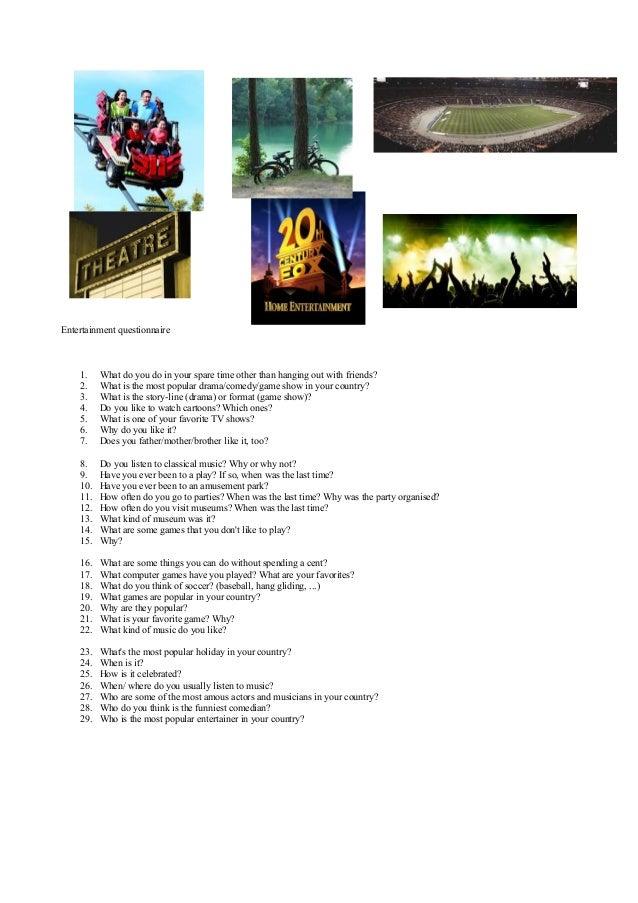 Leisure questionnaire
