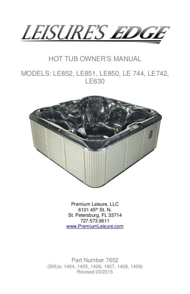 hot tub spas rh slideshare net Morgan Spa Manual 1995 Hot Spring Spa Manual