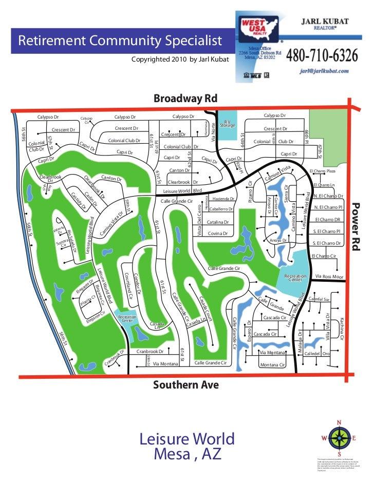 Leisure World Arizona Community Map