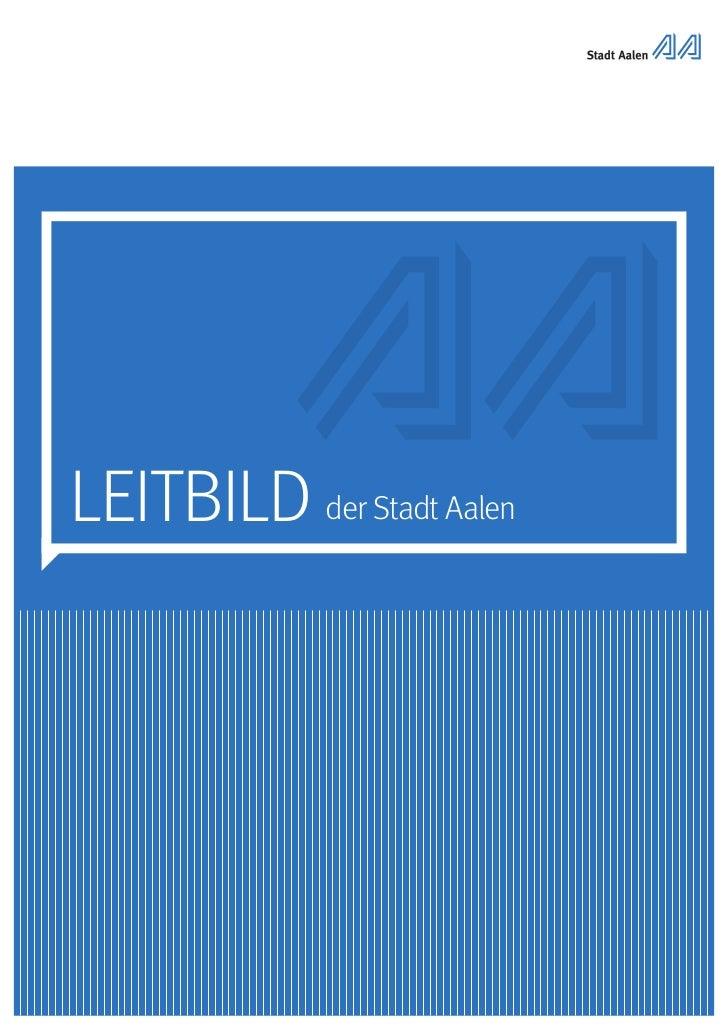 LEITBILD der Stadt Aalen