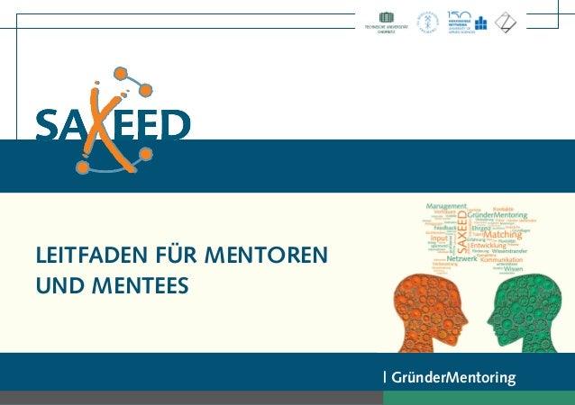 LEITFADEN FÜR MENTOREN UND MENTEES | GründerMentoring
