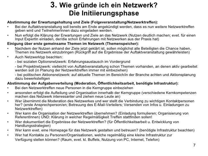 3.  Wie gründe ich ein Netzwerk? Die Initiierungsphase <ul><li>Abstimmung der Erwartungshaltung und Ziele (Folgeveranstalt...