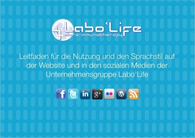 Informationen über den Leitfaden für die Nutzung und den Sprachstil auf der Website und in den sozialen Medien Creative-Co...